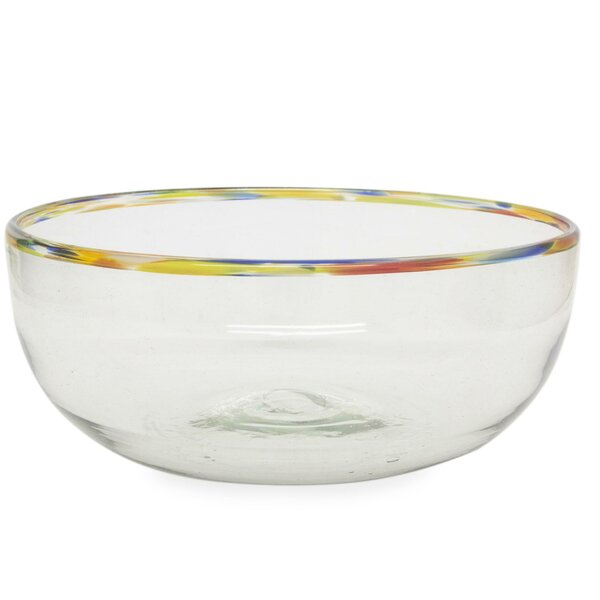 Confetti Blown Glass Salad Bowl by Novica
