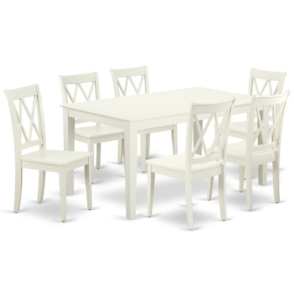Bargain Krieger 7 Piece Solid Wood Dining Set By August Grove 2019 Sale