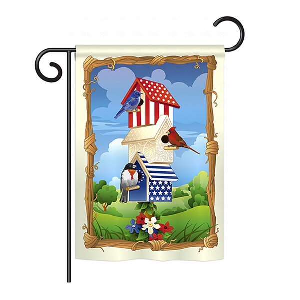 Star Spangled Birdhouse 2-Sided Vertical Flag by Breeze Decor