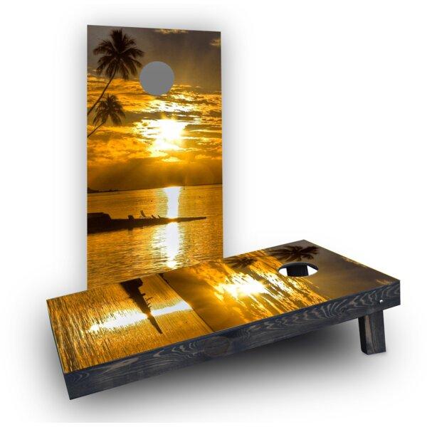 Sea Sunset Cornhole Boards (Set of 2) by Custom Cornhole Boards