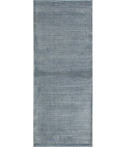 Don Hand-Knotted Gray Area Rug by Latitude Run