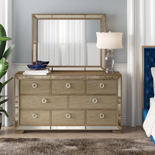 Ryne 8 Drawer Dresser with Mirror by Willa Arlo Interiors