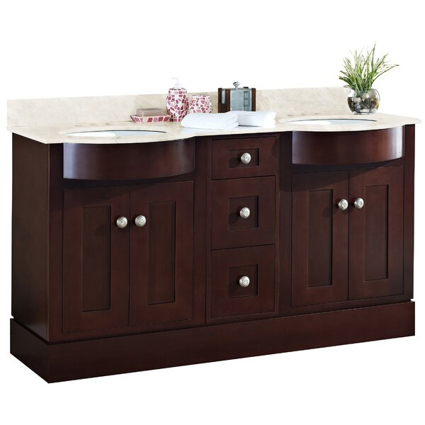 Kester 60 Rectangular Wood Double Bathroom Vanity Set by Darby Home Co