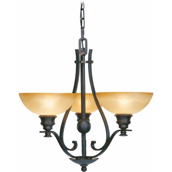 Rainier 3 - Light Shaded Classic / Traditional Chandelier By Volume Lighting