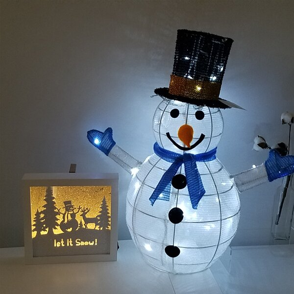 Christmas Pre Lit LED Lighted Snowman by The Holiday Aisle
