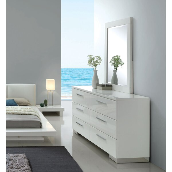 Alayah 6 Drawer Double Dresser With Mirror by Orren Ellis