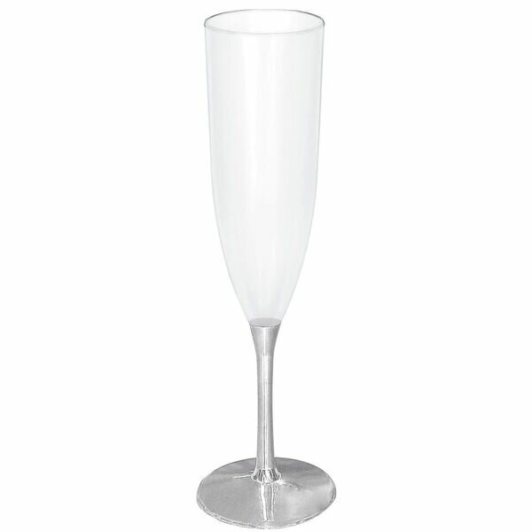 Metallic 5 oz. Champagne Flute (Set of 7) by Amscan