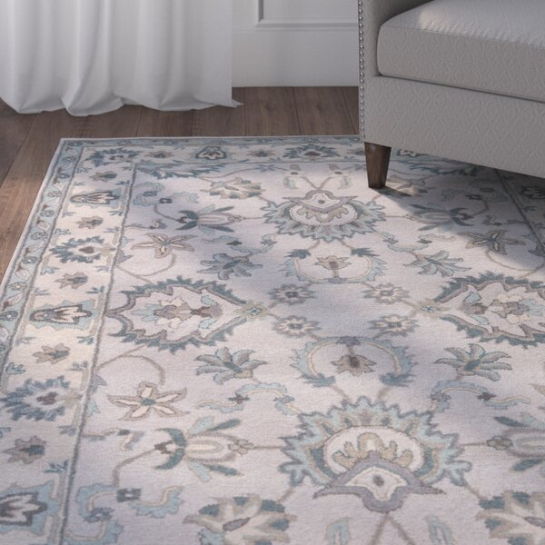 Blake Hand-Tufted Taupe/Blue Area Rug by Charlton Home
