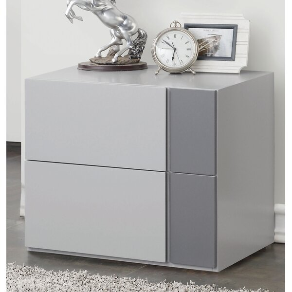 Clauderson 2 Drawer Nightstand by Orren Ellis