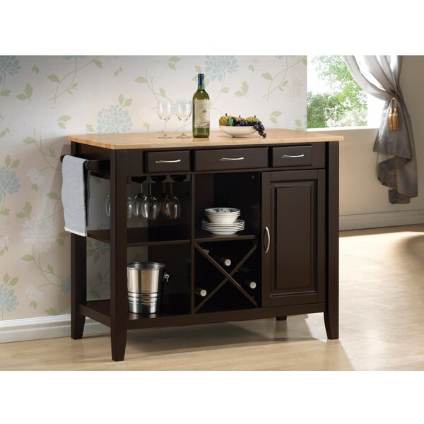 Kisner Casual Rubberwood Kitchen Island By Alcott Hill Wonderful