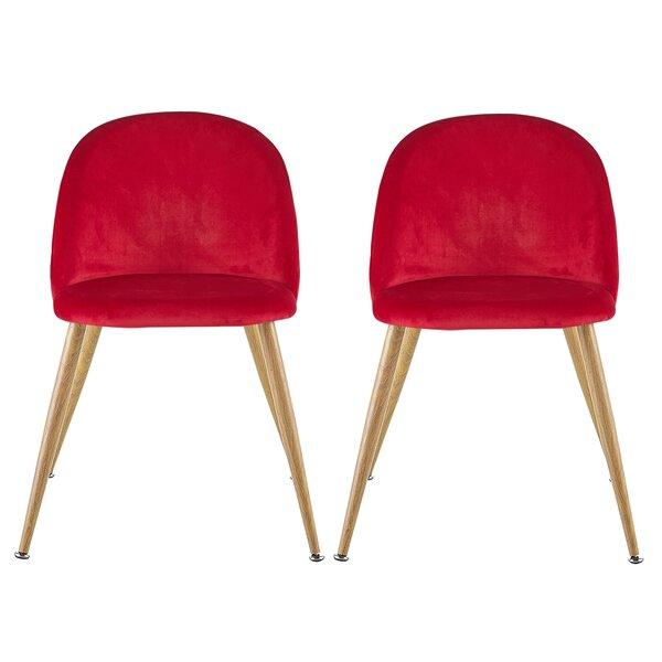 Yunpeng Velvet Upholstered Side Chair (Set Of 2) By Brayden Studio