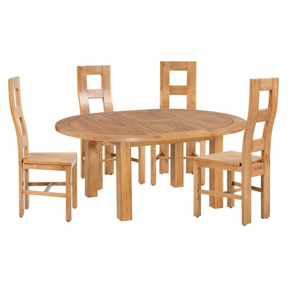 Carbajal 5 Piece Extendable Dining Set by Loon Peak