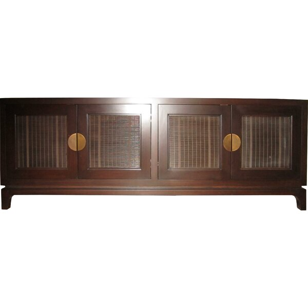 Freeland Solid Wood TV Stand for TVs up to 78 inches by Bloomsbury Market Bloomsbury Market