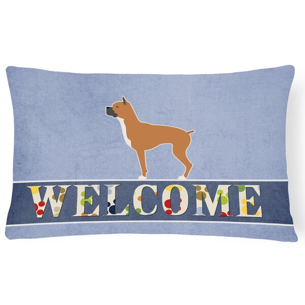 Easterling Boxer Welcome Lumbar Pillow by Red Barrel Studio