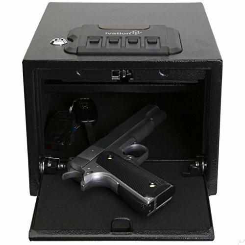 Ivation Electronic Gun Safe w/Mechanical Pop-Open Door - Solid Steel Construction & Hidden Wall/Floor Anchoring Design by Ivation