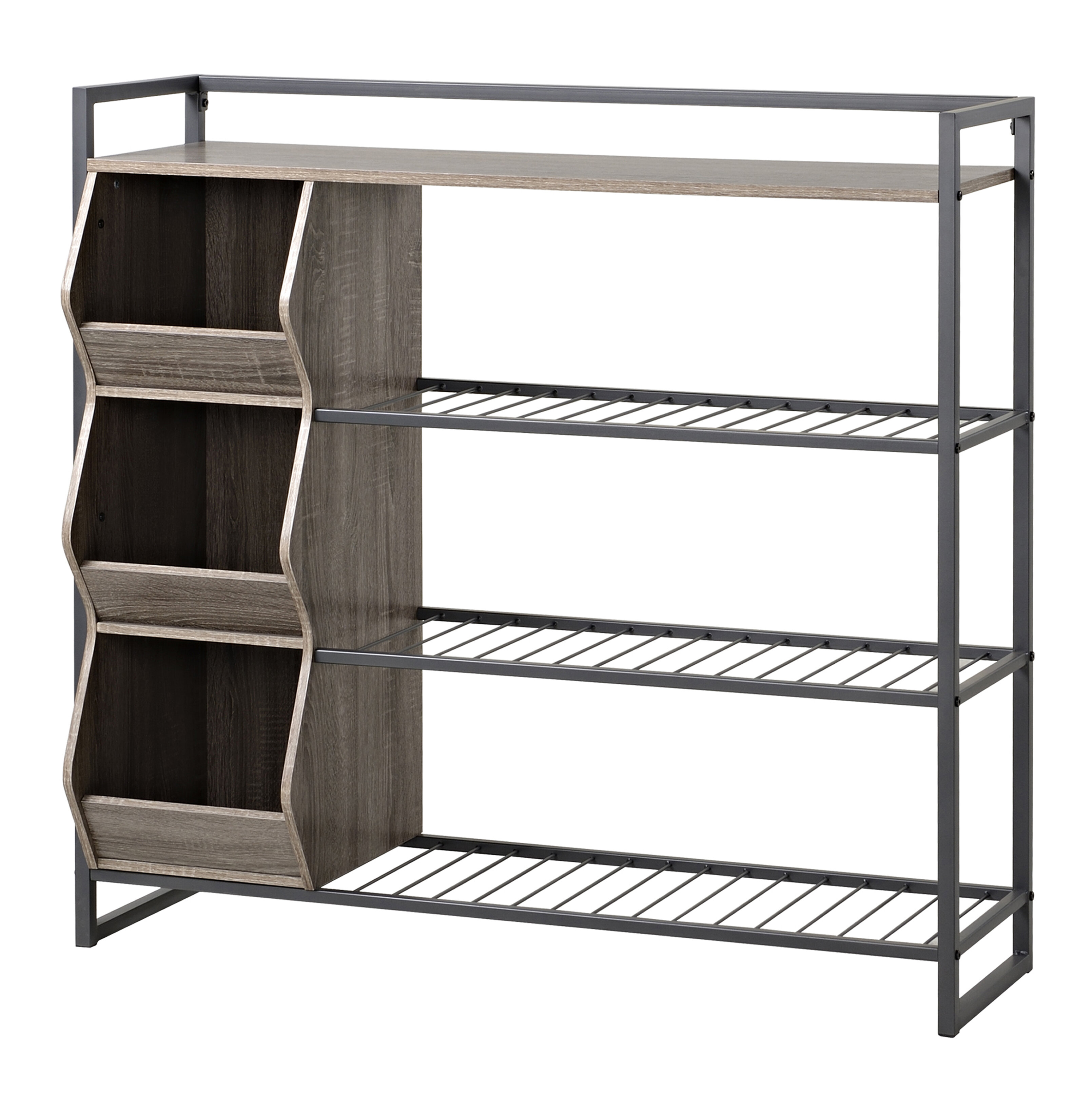 finish hearts shelves rack attic cheap stackable wood organizer shoe cubby pin white in