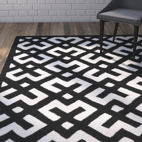 Wilkin Ivory / Black Rug by Wrought Studio
