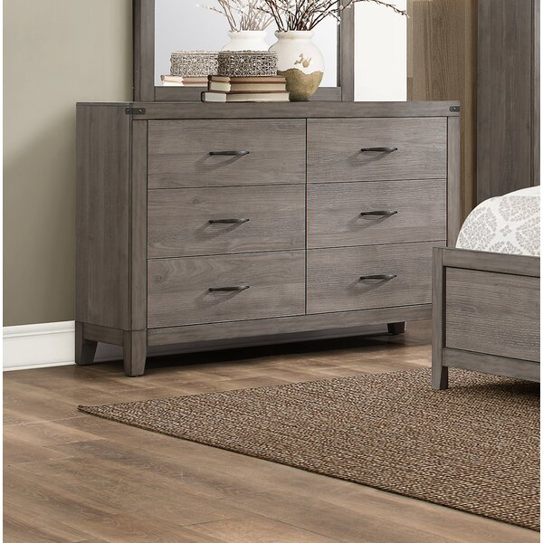 Embree 6 Drawer Double Dresser by Millwood Pines