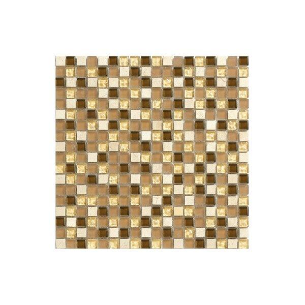 Port 12 x 12 Natural stone Mosaic Tile in Cream by Kellani
