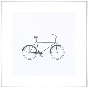'Black Cruiser' Acrylic Painting Print by Wrought Studio