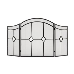 Diamond 3 Panel Fireplace Screen