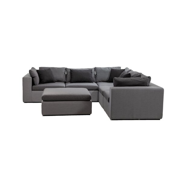 Malani 7 Piece Sunbrella Sectional Seating Group with Sunbrella Cushions by Brayden Studio