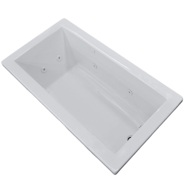 Guadalupe 66 x 32 Rectangular Whirlpool Jetted Bathtub with Drain by Spa Escapes