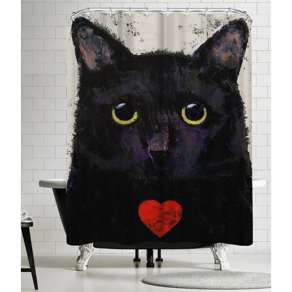 Michael Creese Love Cat Shower Curtain by East Urban Home