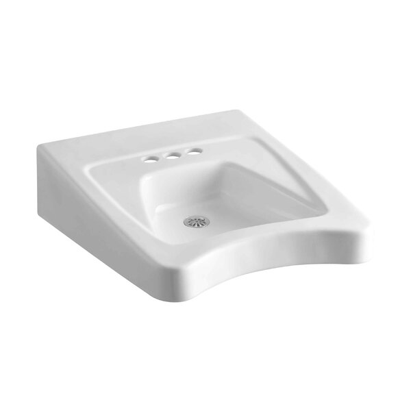 Morningside Ceramic 20 Wall Mount Bathroom Sink with Overflow by Kohler