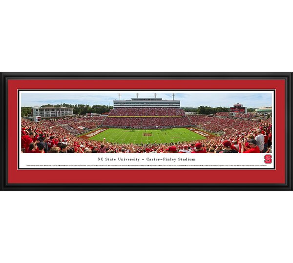 NCAA North Carolina State University - Football Day by James Simmons Framed Photographic Print by Blakeway Worldwide Panoramas, Inc