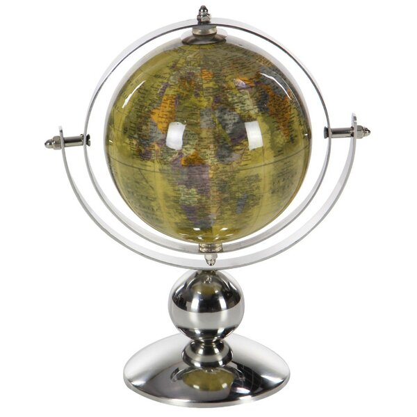 Yellow/Silver Stainless Steel Globe by Winston Porter