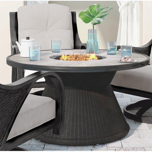 Kohn Aluminum Propane Fire Pit Table by Bayou Breeze