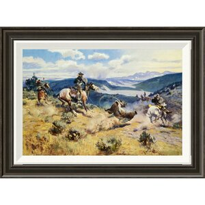 'Loops and Swift Horses Are Surer Than Lead' by Charles M. Russell Framed Painting Print by Global Gallery