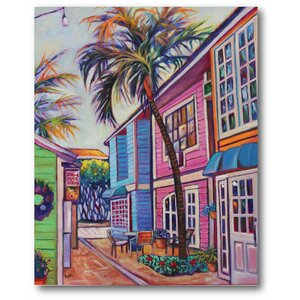 Caribbean Town Painting Print on Wrapped Canvas by Courtside Market