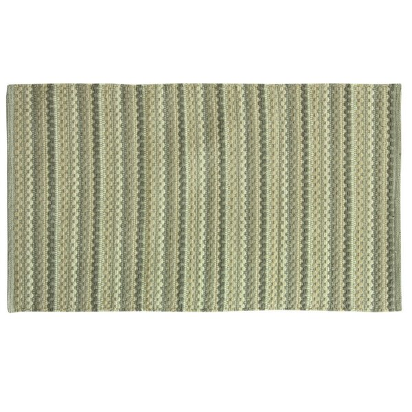 Brenden Hand-Woven Green/Beige Area Rug by Bacova Guild