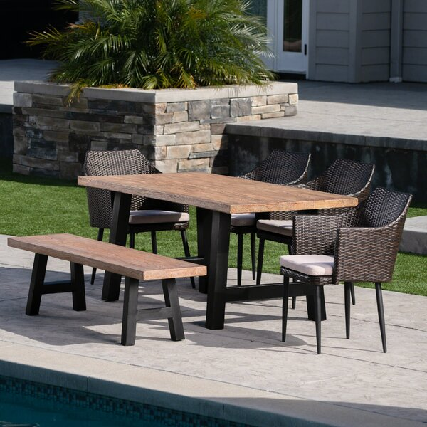Jack 6 Piece Dining Set with Cushions by Brayden Studio