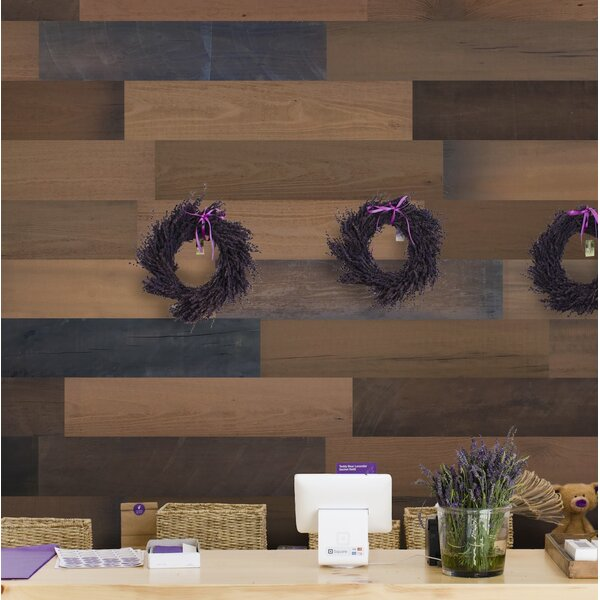 5 Solid Wood Wall Paneling in Brown by Smart Paneling
