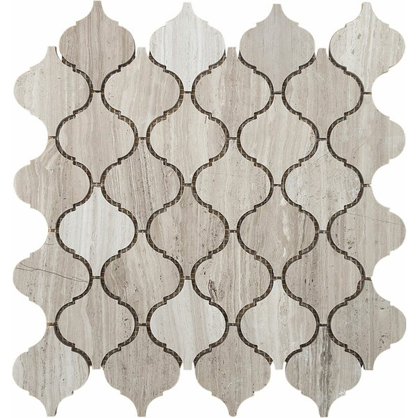 Santa Maria Wood Grain Stone Mosaic Tile in Grey Polished by Parvatile