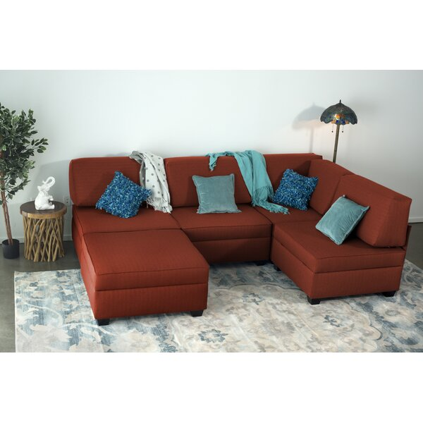 Anke Multi-Functional Reversible Modular Sectional with Ottoman by Latitude Run