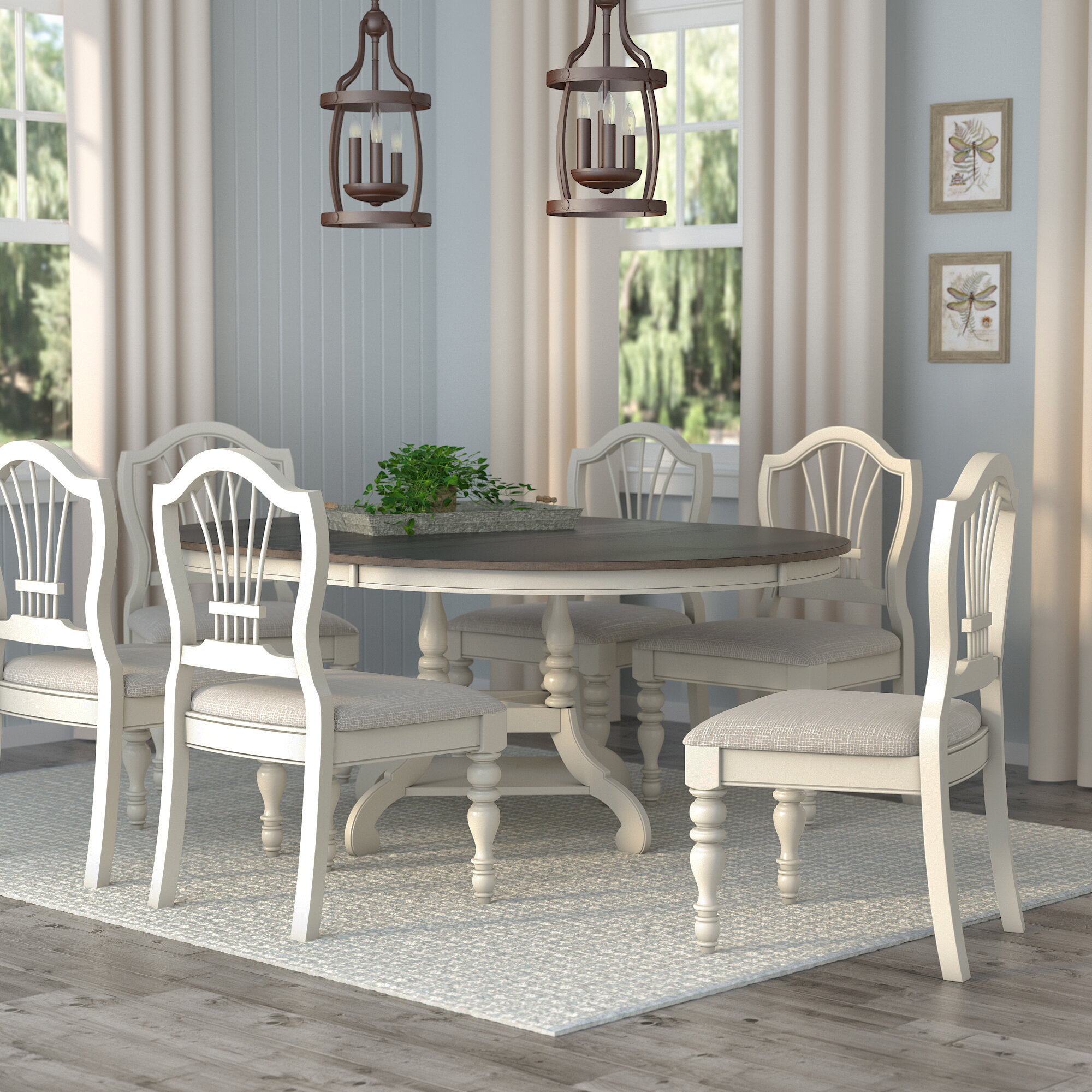 Lark Manor Alise 7 Piece Dining Set U0026 Reviews | Wayfair