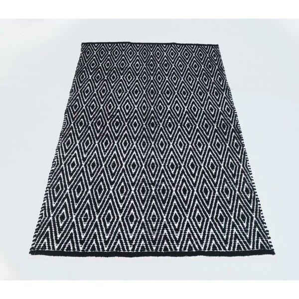 Fortin Black/White Indoor/Outdoor Area Rug by Bungalow Rose