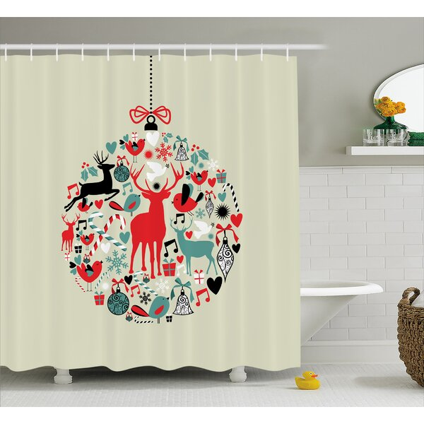 Christmas Decorative Ball Shower Curtain by The Holiday Aisle