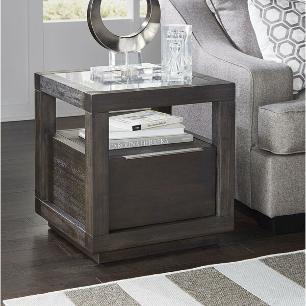 Pagano Acacia Wood End Table by Williston Forge