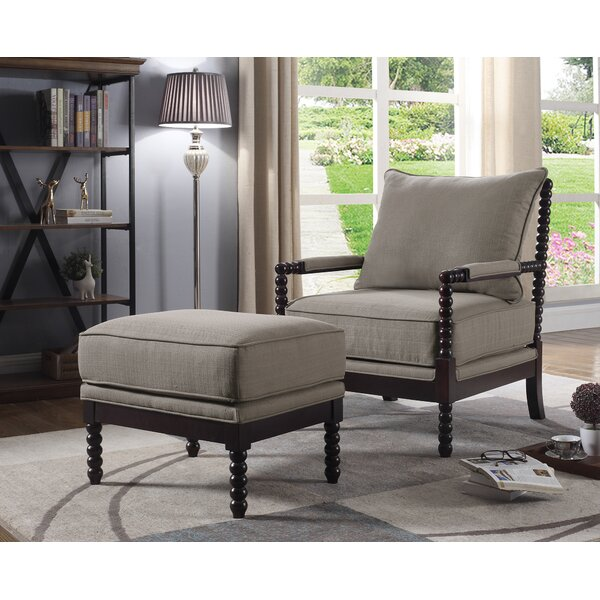 JeNae Armchair and Ottoman by Gracie Oaks