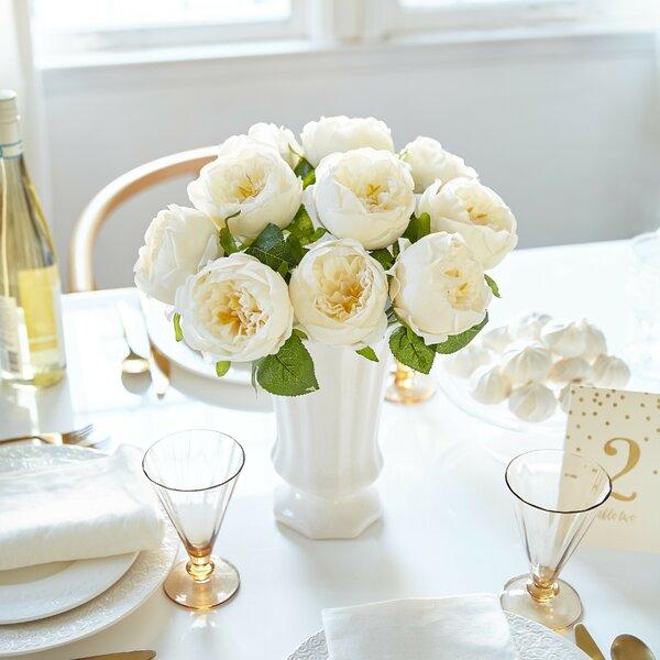 Artificial Peony Silk Flower Centerpiece by House of Hampton