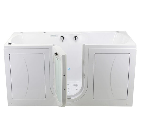 Big4Two 80 x 36 Walk in Whirlpool Bathtub with Fast Fill Faucet, Microbubble, and Heated Seats by Ella Walk In Baths