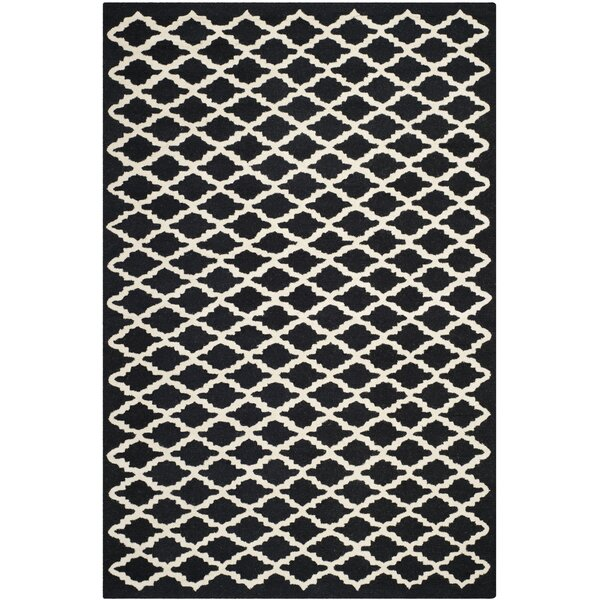 Martins Black/Ivory Area Rug by Wrought Studio
