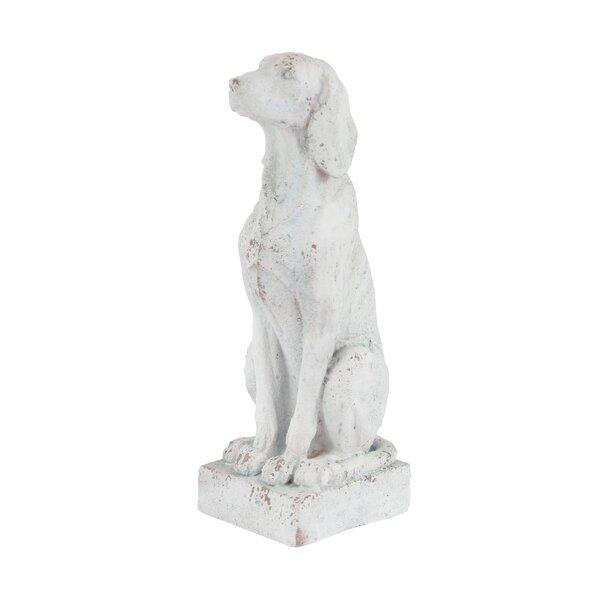 Ericson Traditional Sitting Dog Resin Figurine by Charlton Home