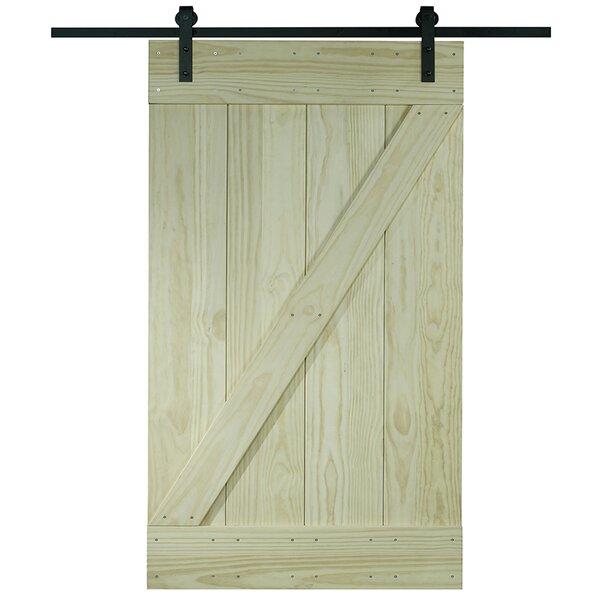 Pinecroft 1 Panel Unfinished Interior Barn Door by LTL Barn Doors