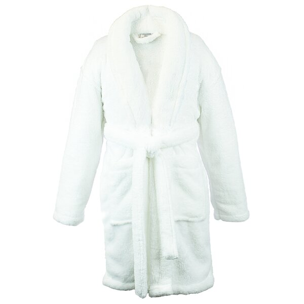 Shawl Fleece Plush Bathrobe by Alwyn Home